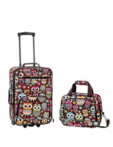 Rockland 2-pc. Owl Print Suitcase & Tote Set