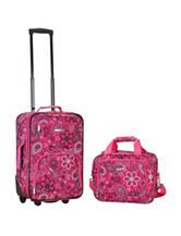 Rockland 2-pc. Floral Print Suitcase & Tote Set