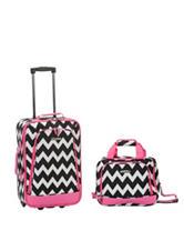 Rockland 2-pc. Chevron Print Suitcase & Tote Set