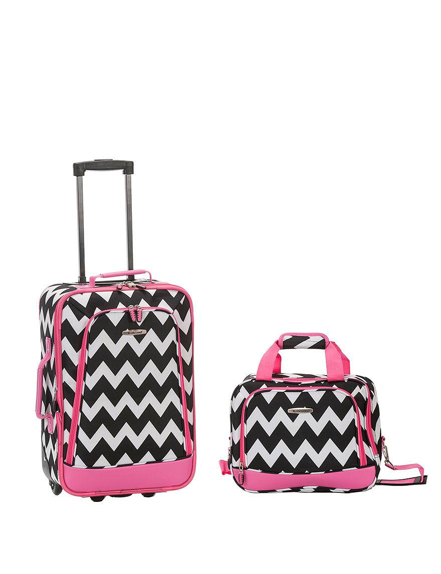 Rockland Pink/Black Multi Luggage Sets