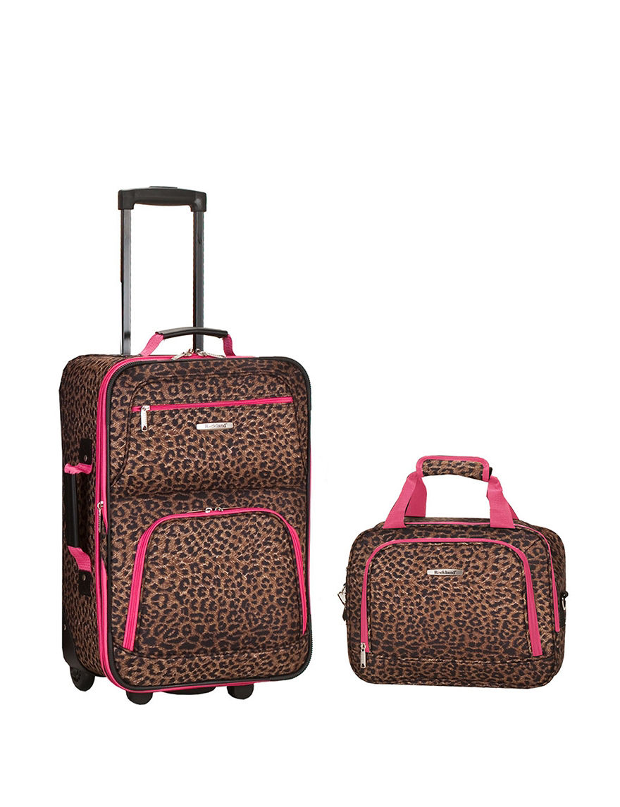Rockland Leopard Luggage Sets