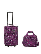 Rockland 2-pc. Cheetah Print Suitcase & Tote Set