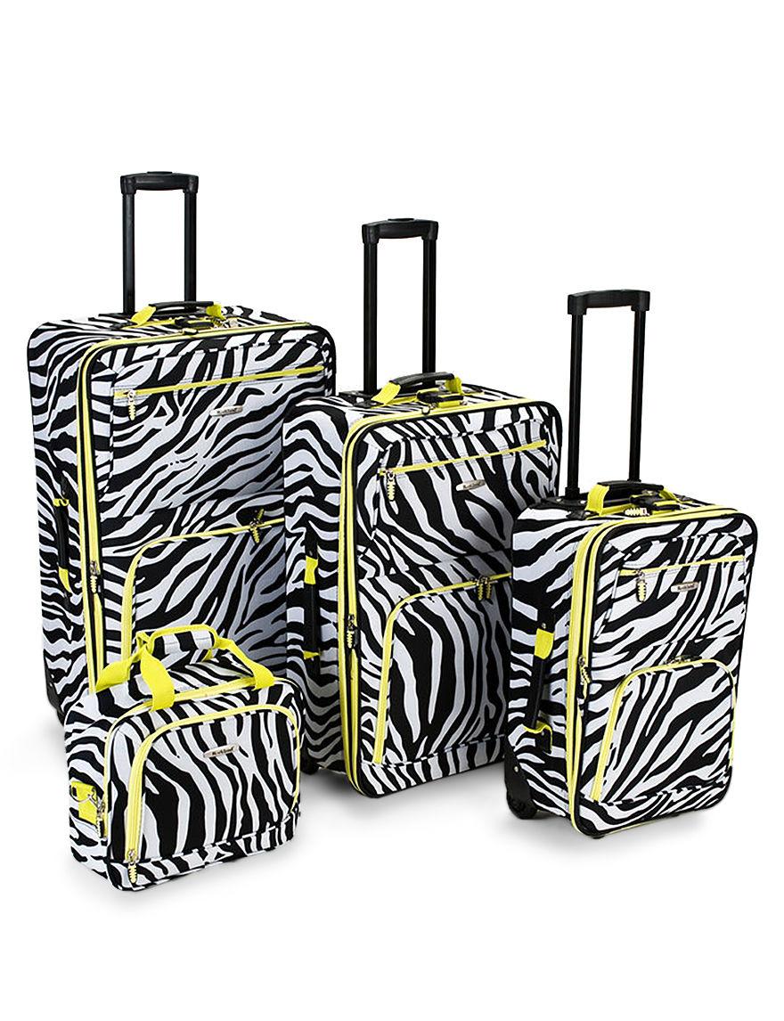 Rockland Zebra Luggage Sets