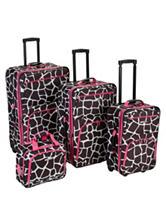 Rockland 4-pc. Giraffe Print Luggage Set