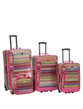 Rockland 4-pc. Chevron Print Luggage Set