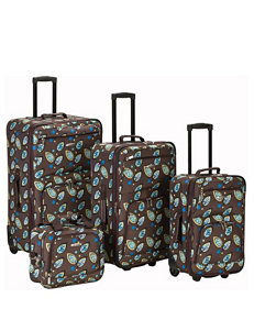 Rockland Brown / Blue Luggage Sets