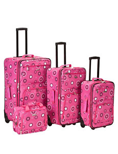 Rockland Pink Multi Luggage Sets