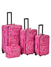 Rockland 4-pc. Pink Pearl Luggage Set