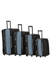 Rockland 4-pc. Solid Color Luggage Set