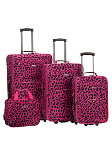 Rockland 4-pc. Magenta Leopard Print Luggage Set