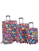 Rockland 4-pc. Heart Print Luggage Set