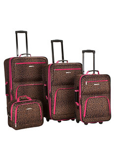 Rockland 4-pc. Leopard Print Luggage Set
