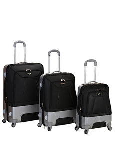 Rockland Black Luggage Sets Upright Spinners