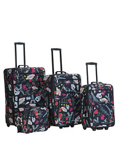 Rockland 4-pc.Vegas Print Luggage Set