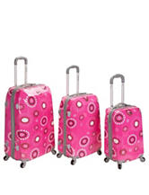 Rockland 3-pc. Pink Pearl Luggage Set