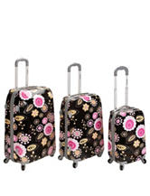 Rockland 3-pc. Floral Print Luggage Set