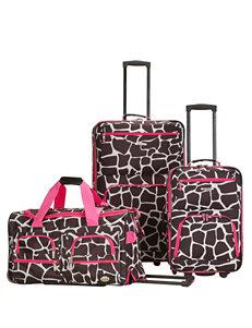 Rockland 3-pc. Giraffe Print Luggage Set