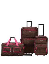 Rockland 3-pc. Cheetah Print Luggage Set