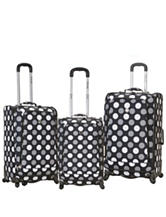 Rockland 3-pc. Grey Dot Print Luggage Set