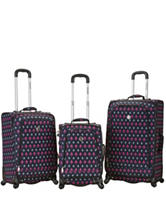 Rockland 3-pc. Fleur De Lis Luggage Set