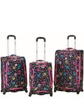 Rockland 3-pc. Peace Sign Luggage Set