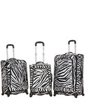 Rockland 3-pc. Zebra Print Luggage Set