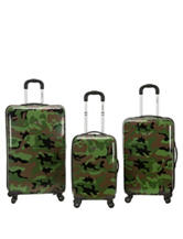Rockland 3-pc. Camo Print Hardside Spinner Set