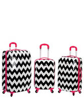 Rockland 3-pc. Chevron Print Hardside Luggage Set