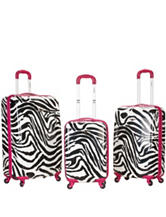 Rockland 3-pc. Zebra Print Hardside Luggage Set