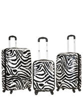 Rockland 3-pc. Zebra Print Hardside Spinner Set