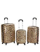 Rockland 3-pc. Leopard Print Hardside Luggage Set