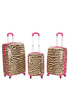 Rockland 3-pc. Cheetah Print Hardside Luggage Set