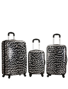 Rockland Grey / Black Luggage Sets