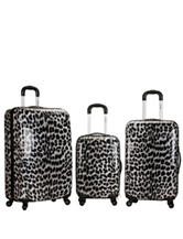 Rockland 3-pc. Snow Leopard Hardside Luggage Set