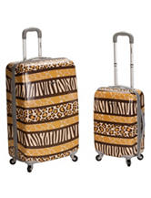 Rockland 2-pc. Animal Print Luggage Set