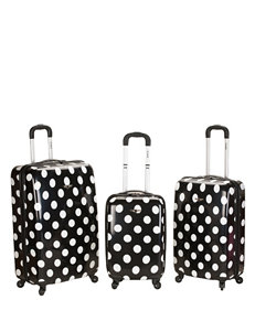 Rockland Black / White Luggage Sets
