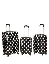 Rockland 3-pc. Dot Print Luggage Set