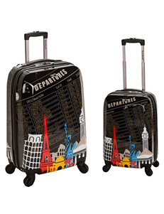 Rockland Black / Multi Luggage Sets Upright Spinners