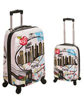 Rockland 2-pc. New York Print Luggage Set