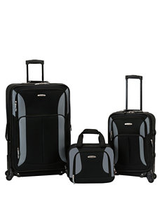 Rockland 3-pc. Solid Color Luggage Set