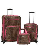 Rockland 3-pc. Leopard Print Luggage Set