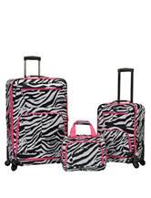 Rockland 3-pc. Zebra Print Luggage Set