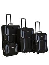 Rockland 4-pc. Solid Color Black Luggage Set