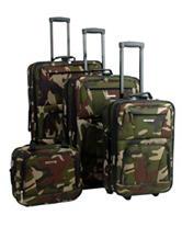 Rockland 4-pc. Camo Print Luggage Set