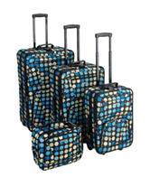 Rockland 4-pc. Multicolor Polka Dot Luggage Set