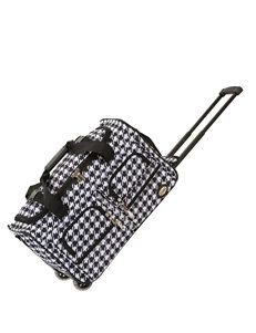 Rockland Black /  White Duffle Bags