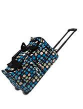 Rockland 22 Inch Multicolor Polka Dot Rolling Duffle Bag