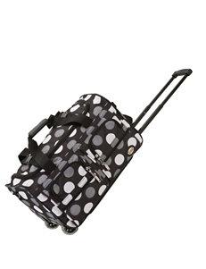 Rockland Black /  White Duffle Bags