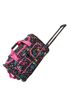Rockland Black / Pink Duffle Bags Upright Spinners