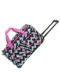 Rockland Pink / White / Black Duffle Bags